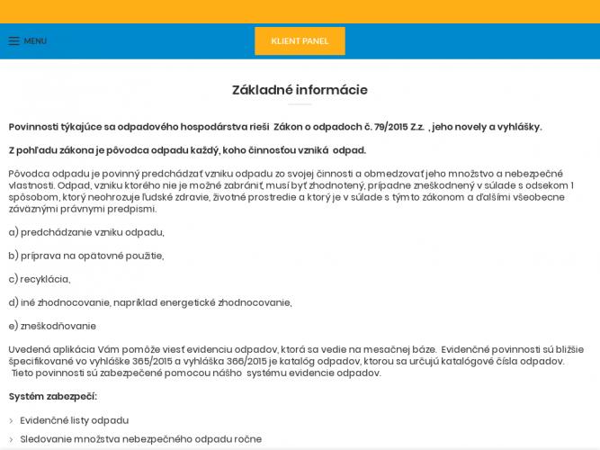 Case study – odpady.mg-service.sk
