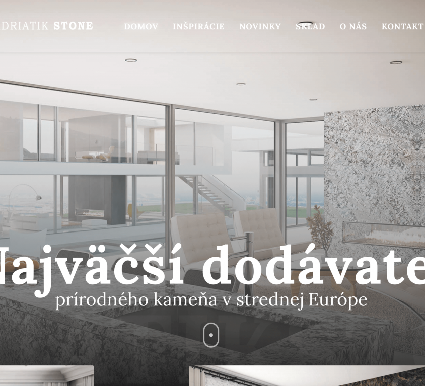 Case study – www.adriatikstone.sk